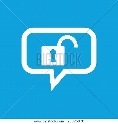 Unlocked message icon