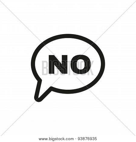 The No Speech Bubble Icon. No Symbol. Flat