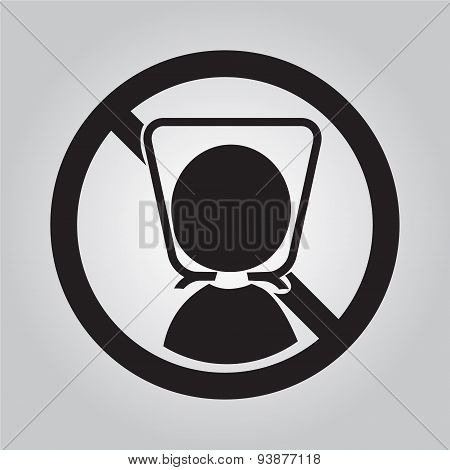 Warning Sign With Plastic Bag. Illustration