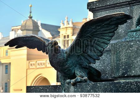 Bronze eagle.