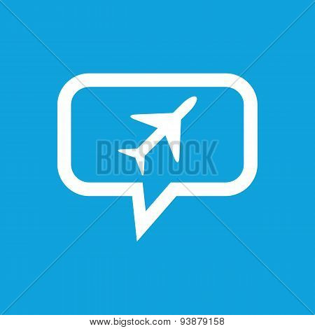 Plane message icon