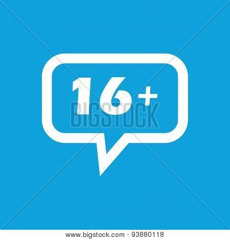 16 plus message icon