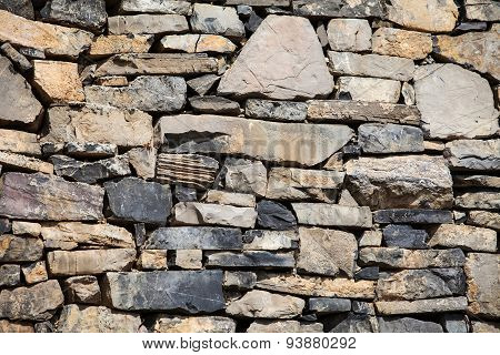 Rustic Wall In A Old Construction
