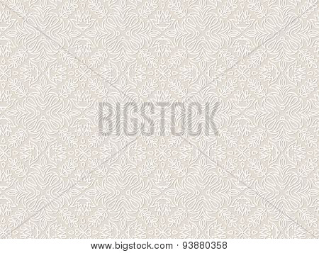 Lace vintage floral vector seamless pattern, tiling.