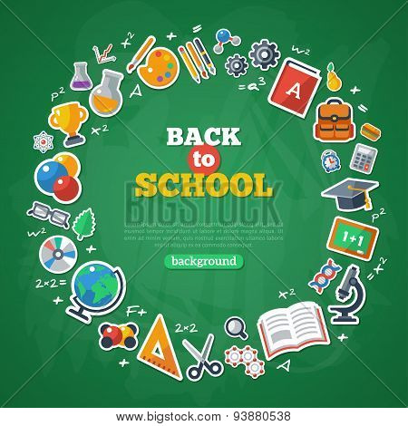 Back to School Frame. Vector Illustration.