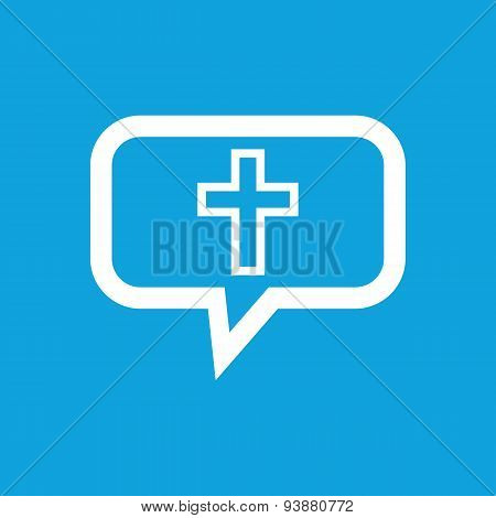 Christian cross message icon