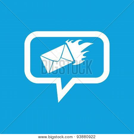 Burning letter message icon
