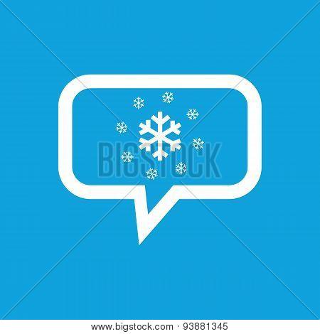 Snowflakes message icon
