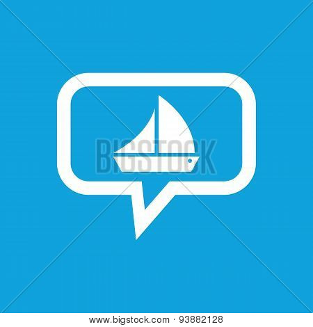 Sailing ship message icon
