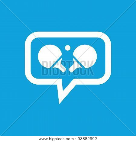 Table tennis message icon