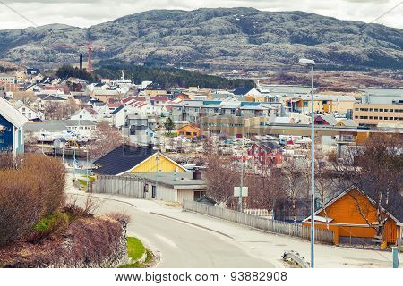 Rorvik, Norwegian Town With Colorful Wooden Houses