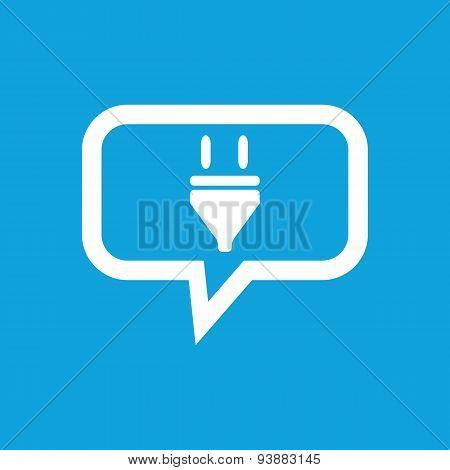 Plug message icon