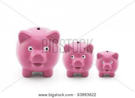 Three piggy banks