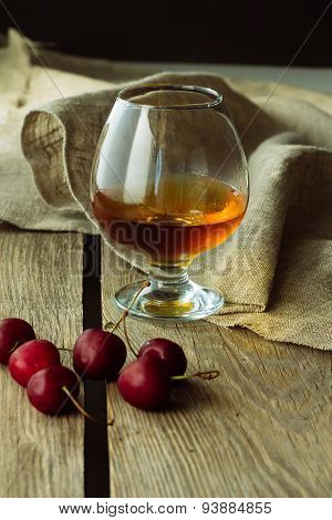 Brandy Glass And Black Cherry