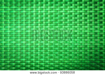 Green Plastic Weave Pattern For Background