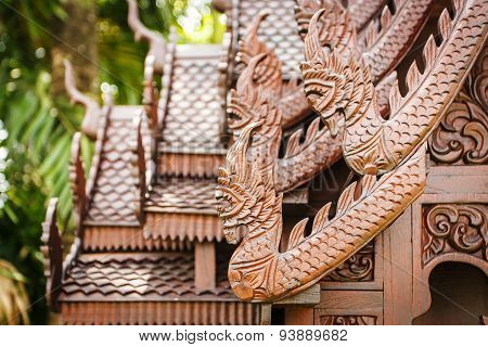 Wooden House Thai Style Wood Carving