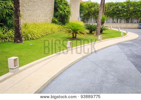 Walkway In The Garden