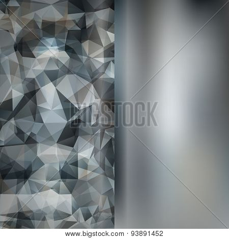 Set Of Abstract Polygon Triangles And Blurred Smooth Backgrounds