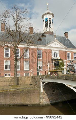 Netherlands - Dokkum - Circa April 2014: City Hall.