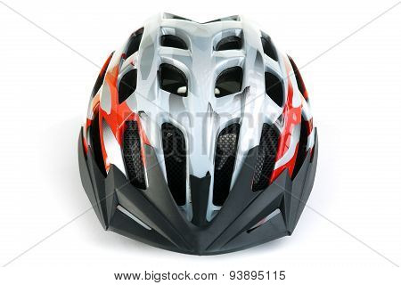 mountain bike helmet, isolated on white background