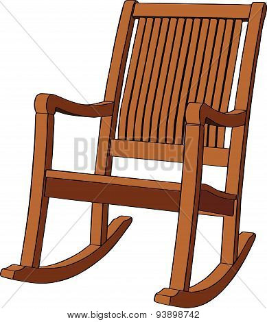 Wooden rocking armchair