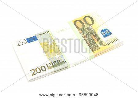 Pack Of Two Hundred Euro Banknotes