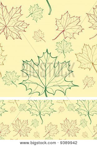 Seamless Background With Maple Leaves