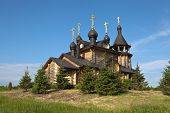 image of backwoods  - Church of All Saints Resplendent in the Siberian Land was built in 2002 - JPG