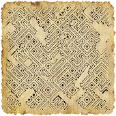 picture of dungeon  - Abstract dungeon map generated texture or background - JPG