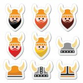 picture of ginger man  - Ancient Viking icons with black - JPG