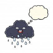 image of rain cloud  - cartoon rain cloud - JPG