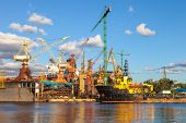 picture of shipyard  - Construction site in the Shipyard of Gdansk Poland - JPG