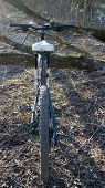 foto of dirt-bike  - bike rides out of town in the spring - JPG