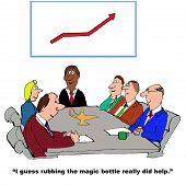 image of guess  - Business cartoon of business meeting - JPG
