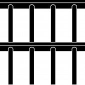 image of jail  - vector jail bars black symbol seamless background - JPG