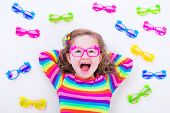 pic of spectacles  - Child wearing eye glasses - JPG
