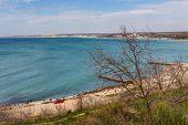 foto of sevastopol  - sea coast near Sevastopol on a sunny day - JPG