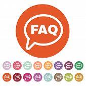 stock photo of faq  - The faq speech bubble icon - JPG