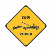 stock photo of towing  - Tow truck icon on a white background - JPG