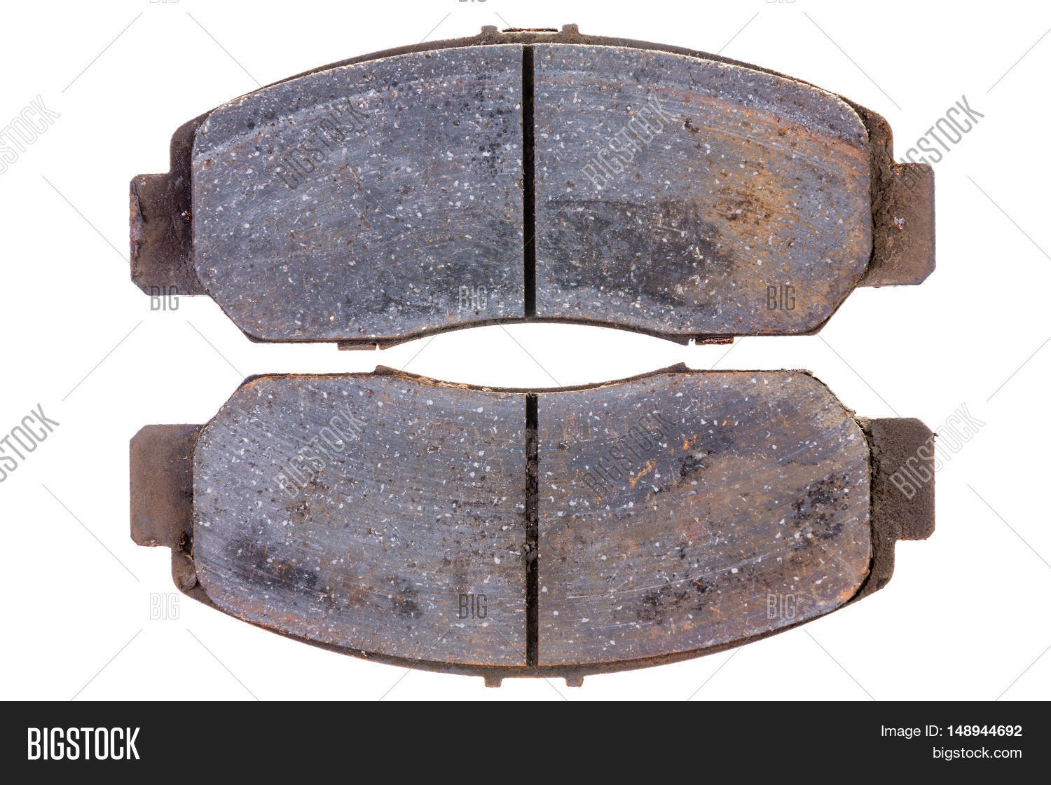 Car Break Pads Worn : Set old worn brake pads car image photo bigstock