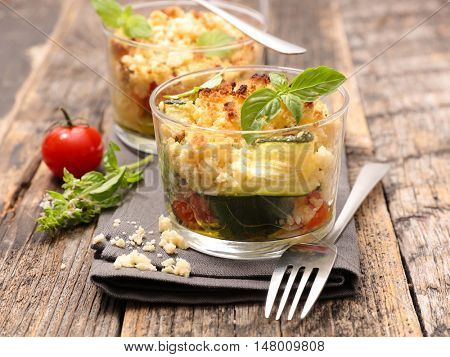 crumble with vegetable
