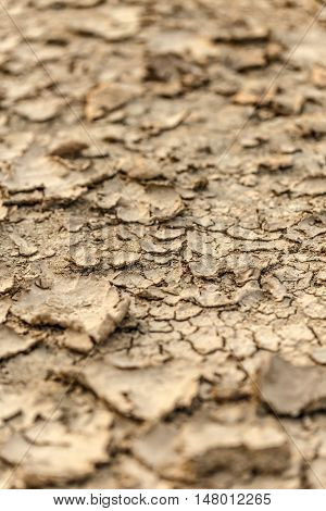 Texture of cracked ground during drought, background