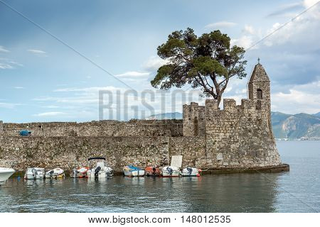 Fortification at the port of Nafpaktos town, Western Greece