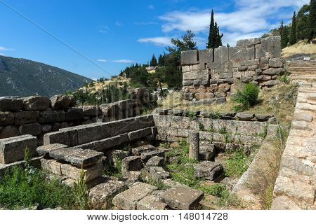 Ancient Greek archaeological site of Delphi,Central Greece