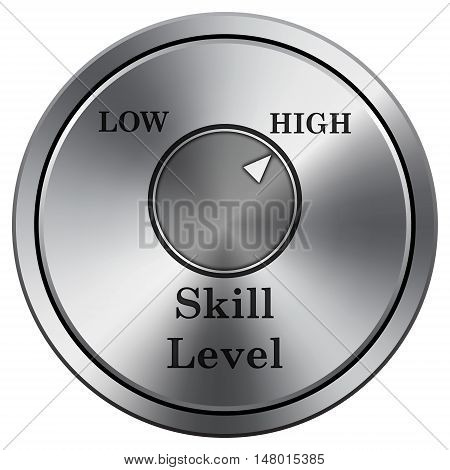 Skill Level Icon. Round Icon Imitating Metal.
