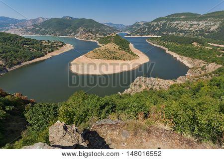 Amazing Panorama of Arda River meander and Kardzhali Reservoir, Bulgaria