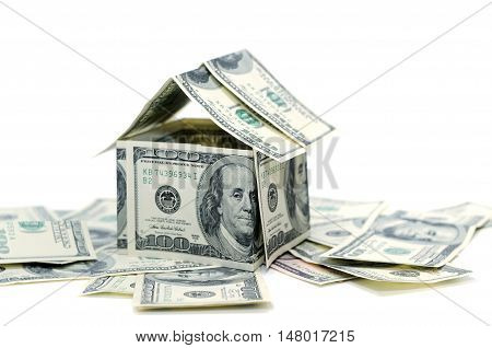 Money isolated on a white background ,