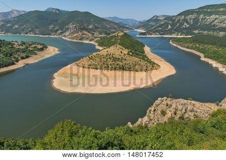 Amazing view of Arda Rivermeander and Kardzhali Reservoir, Bulgaria