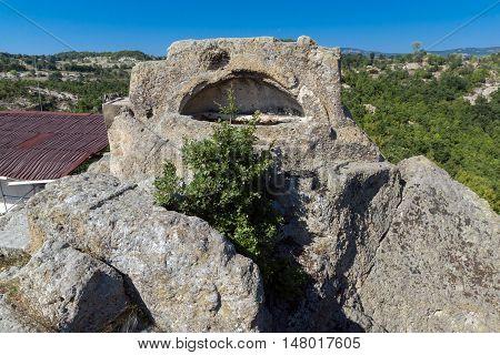 Panoramic view of Antique Thracian sanctuary Tatul, Kardzhali Region, Bulgaria