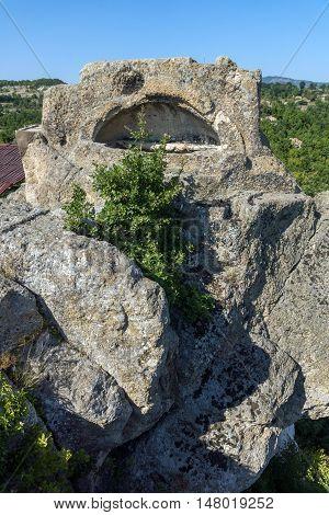 Tomb of Orpheus in Antique Thracian sanctuary Tatul, Kardzhali Region, Bulgaria
